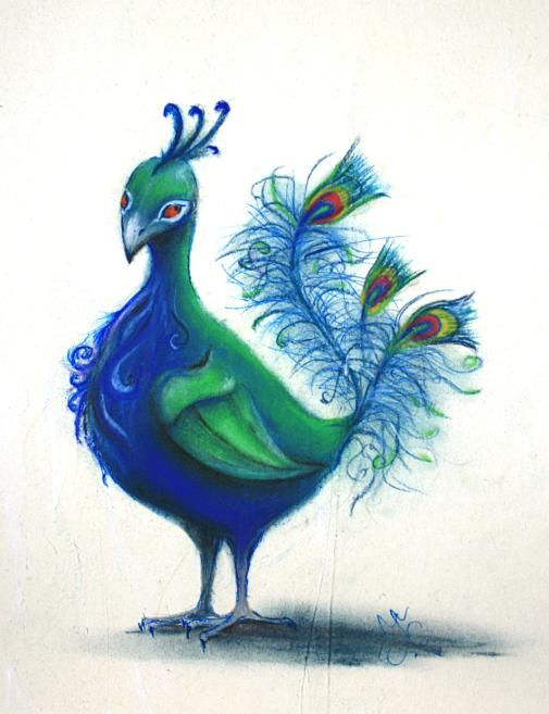 peacock by ~Lace-maker on deviantART