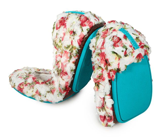 Rose Garden - Fall in love all over again, with charming, Rose Garden Tieks. These hand-stitched, limited edition, Italian leather Tieks are adorned with fabric roses that are sure to bring any outfit to life. The delicate blend of fuchsia, white, pink and green, twisted into tiny roses, is a true work of art. Pair these gorgeous Tieks with everything from shorts to cocktail dresses.