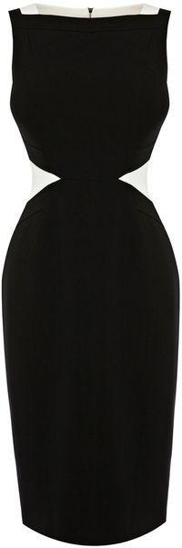 Karen MIllen England Contrast Tipped Stretch Dress - Lyst  dressmesweetiedarling