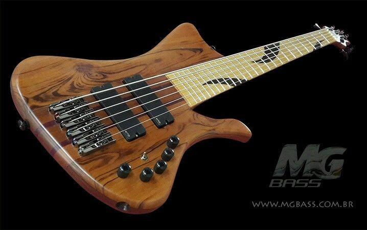 # bass guitar handmade 6 strings mgbass pickups Emg parts