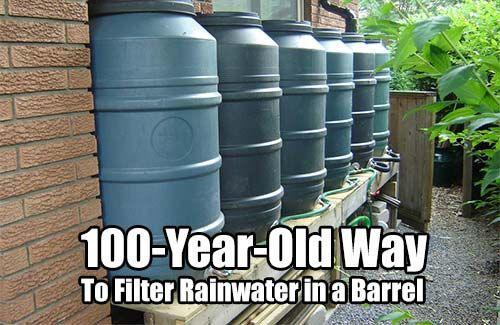 100-Year-Old Way to Filter Rainwater in a Barrel. If you want filtered water right from a rain barrel this is for you. This 100 year old tip is a classic