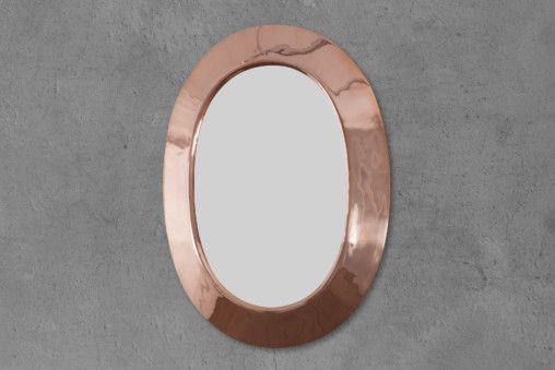 Copper Oval Mirror