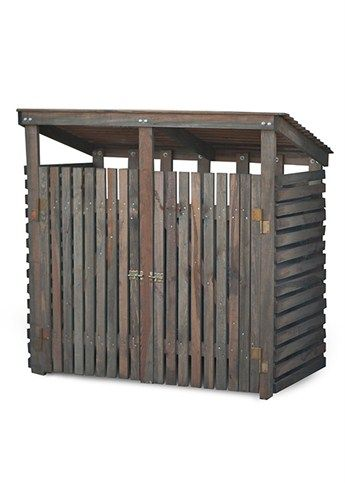 Double Wooden Wheelie bin storage at Garden Trading