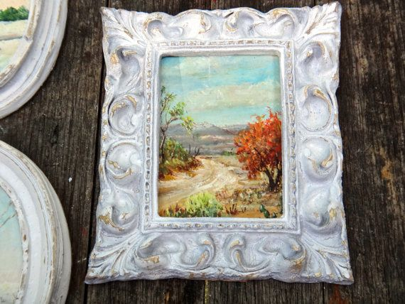 Small Frame Shabby Framed Art 5 x 6 Frame White by CasaKarmaDecor