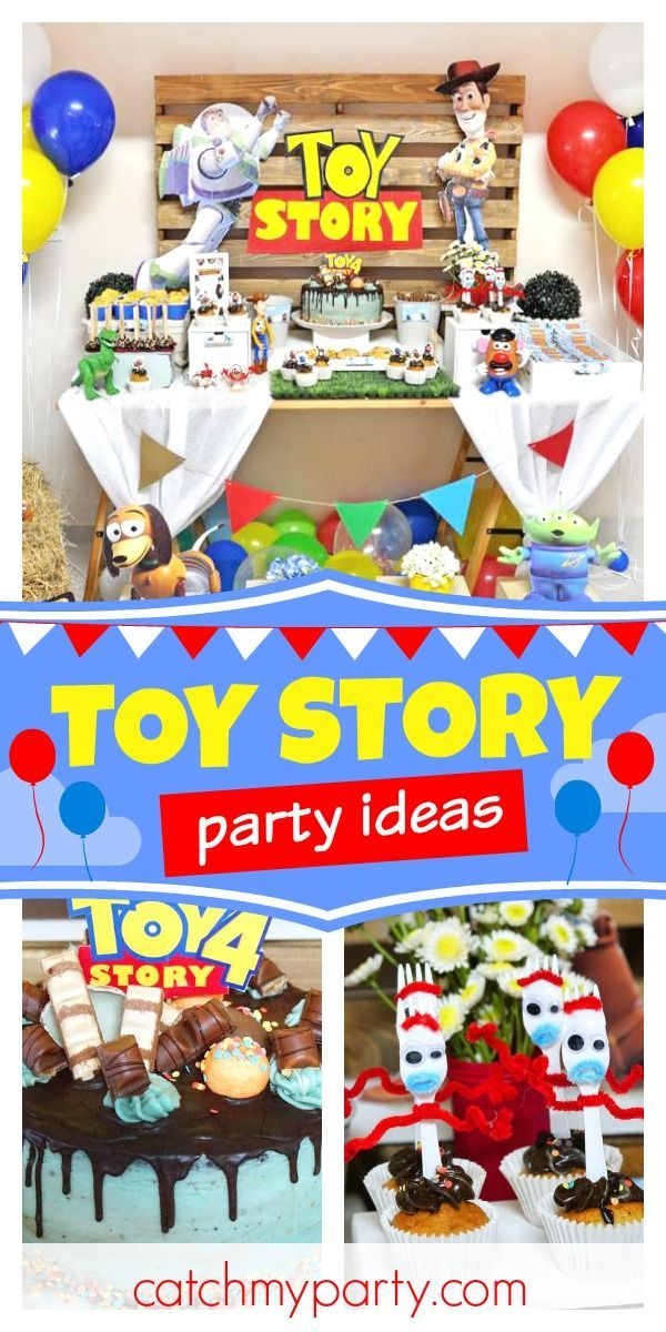 Don't miss this fun Toy Story 4 birthday party! The cake