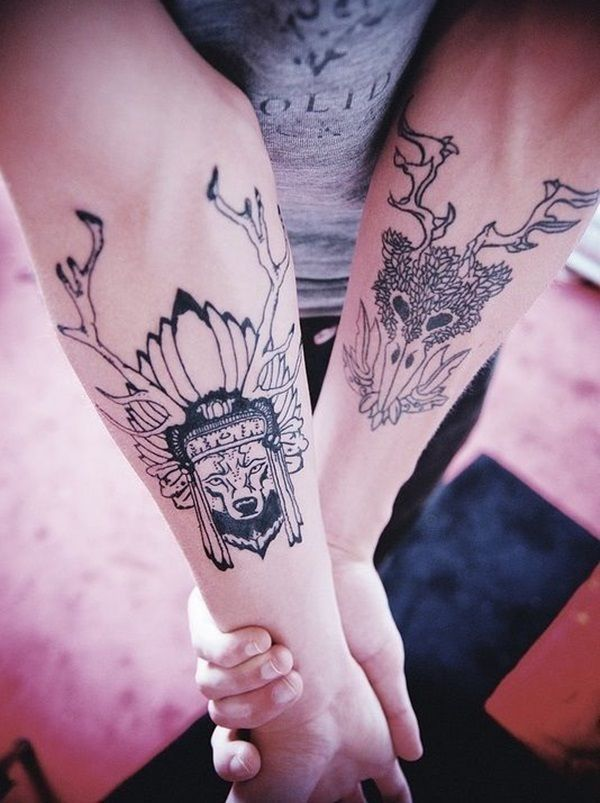 39 best images on pinterest stag tattoo deer tattoo and. Black Bedroom Furniture Sets. Home Design Ideas