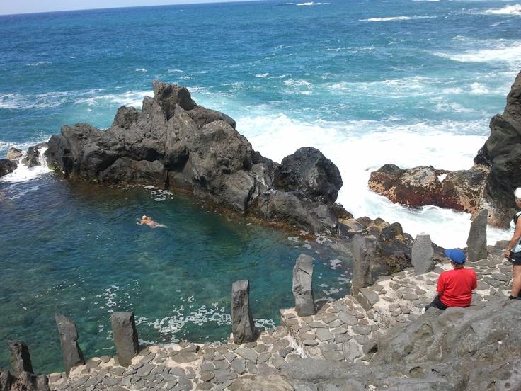 Sea bath after visiting, Garachico  #tenerife #hiking #costaadeje #travel #traveltip