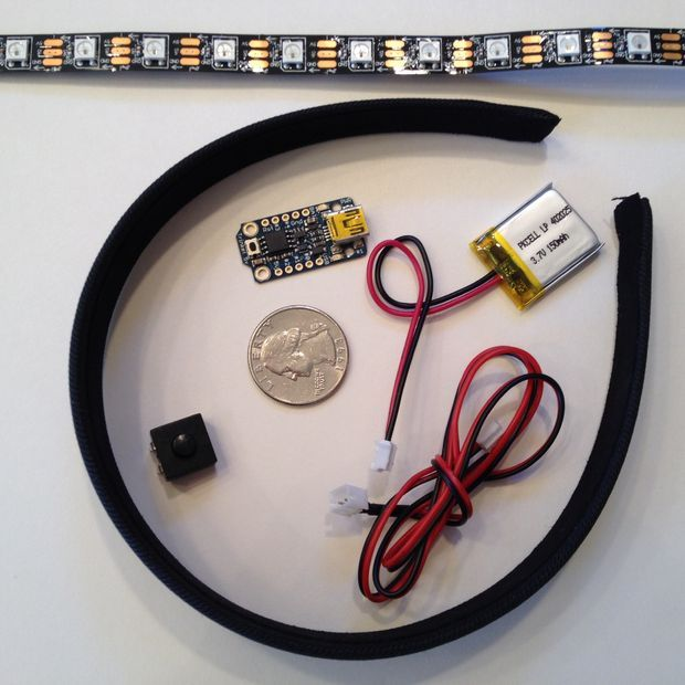 NeoPixel LED Head band: Picture of Gather Materials
