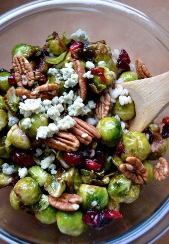 Seared Brussel Spouts with Cranberries and Pecans and 16 other Easter Dinner Ideas