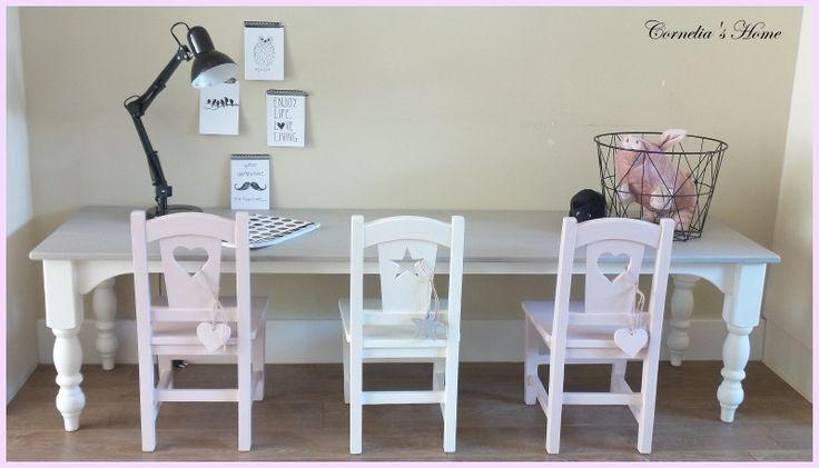 Kinderstoeltje met hart, ster, kruis of gebogen leuning | Kinderstoeltjes | Cornelia`s Home