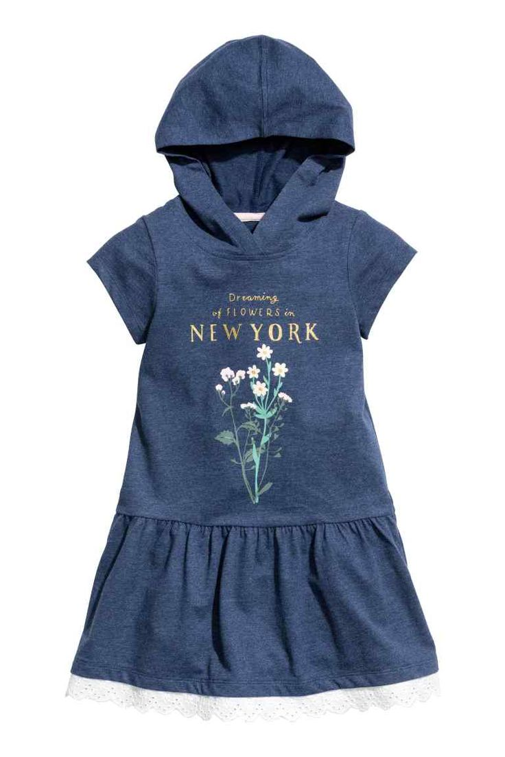 Tricot jurk met capuchon | H&M