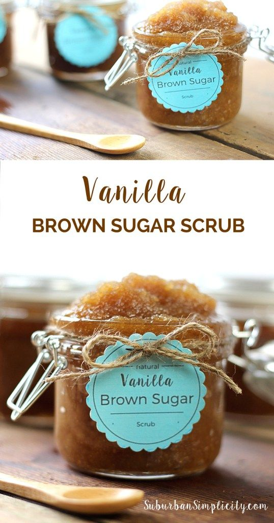 This Vanilla Brown Sugar Scrub is a perfect homemade DIY gift idea! This recipe smells good enough to eat plus it's super easy to make!