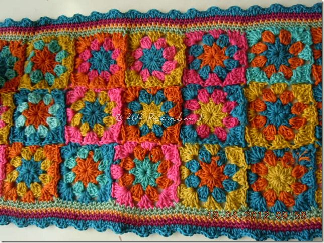 Edging pattern for the Summer Garden Granny (there is a link to the pattern for the square in the post)Crochet Blankets, Crochet Granny, Crochet Afghans, Beautiful Colors, Crochet Crazy, Crochet Edging, Crochet Crosses, Crochet Diy, Beautiful Vintage
