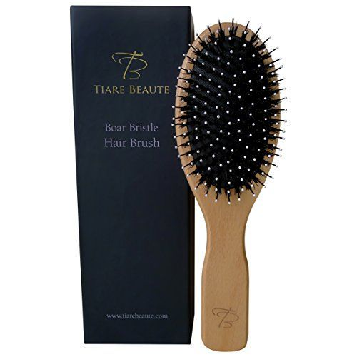Tiare Beaute Boar Bristle Hair Brush With Easy To Hold Handle Best To Promote Healthy Shiny and Naturally Conditioned Hair ** Continue to the product at the image link.