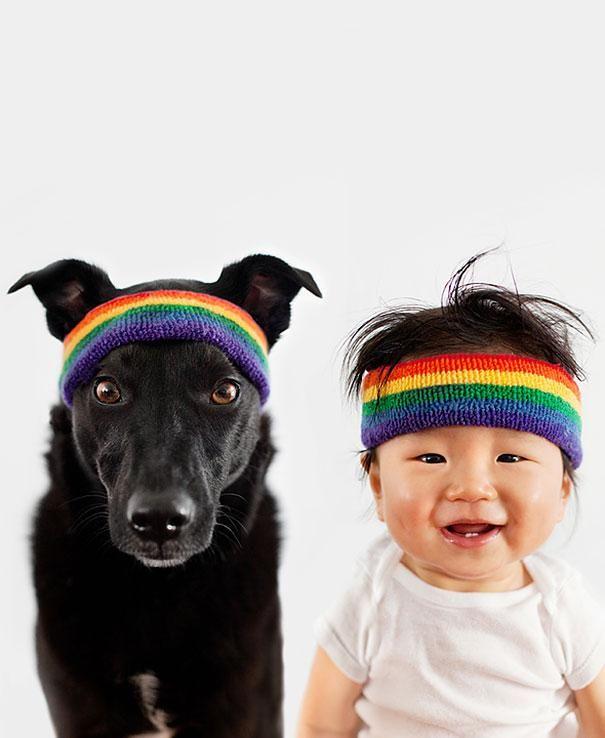 Les photos attendrissantes d'un bébé et d'un chien | Glamour