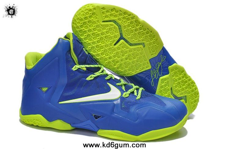 Buy Lebron James Shoes 2013 Nike Lebron XI 11 Blue Volt
