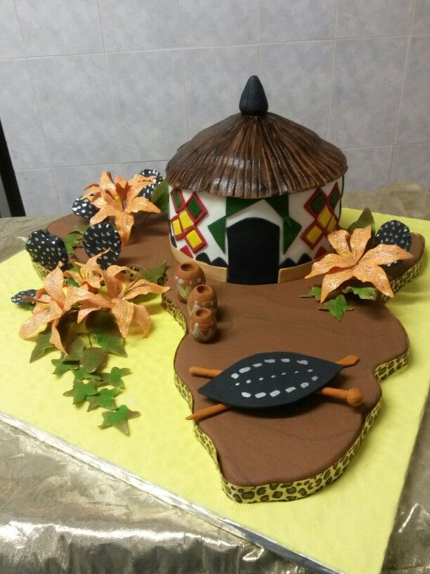 African traditional wedding cake
