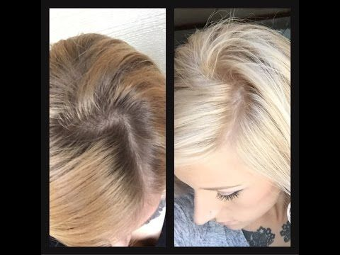 Toning hair using Wella toners! T14 has blue in it which will counteract the…