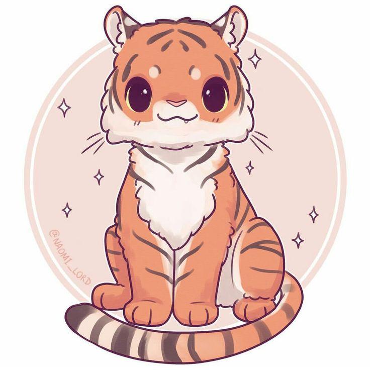 милые рисунки тигренка