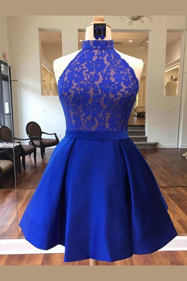 Pin De X En Vestidos Vestidos Azul Rey Cortos Vestidos