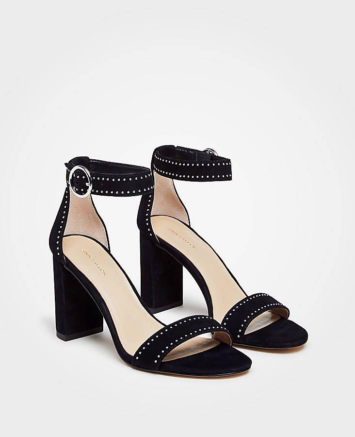 4b0b5ecf6df3d6 Leannette Studded Block Heel Sandals
