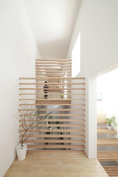 garde-corps en bois - Katsutoshi Sasaki + Associates : House in Yamanote