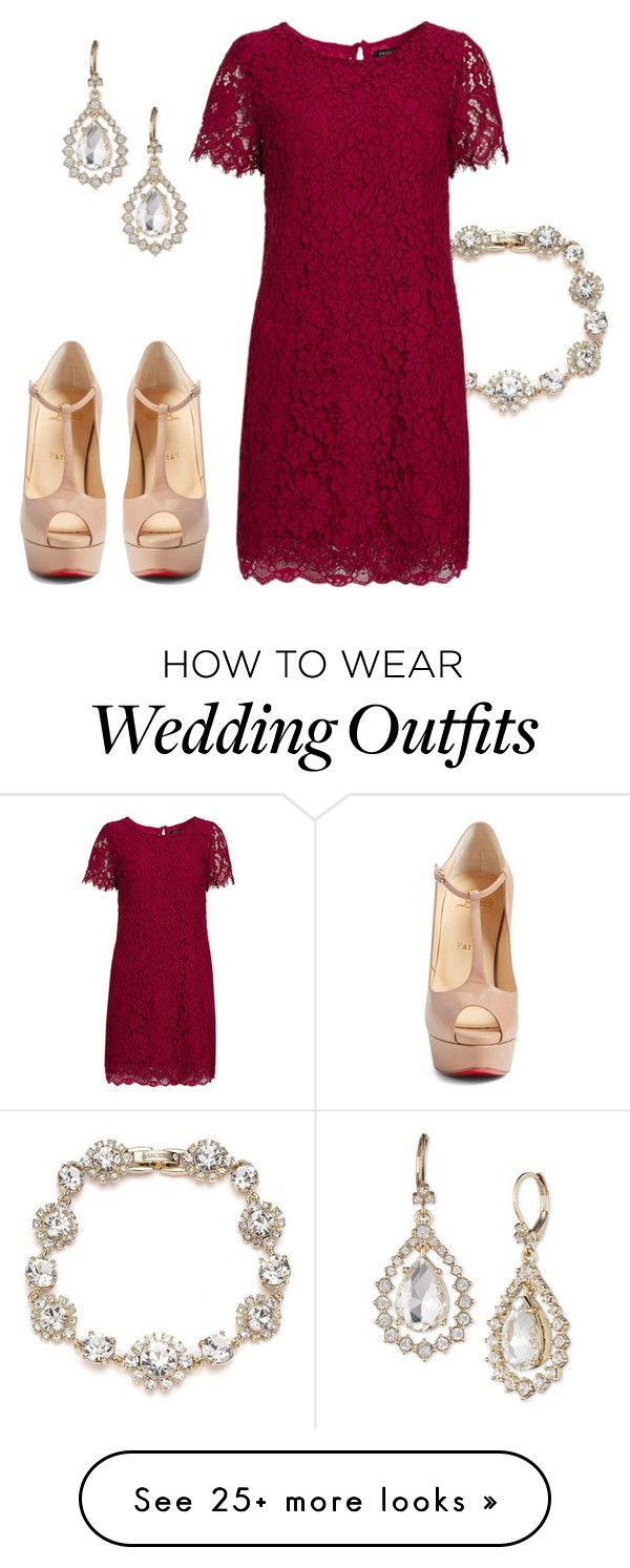 """""""Spring Formal: Wedding Guest Edition"""" by kristenleighw on Polyvore featuring Marchesa, Twin-Set and Christian Louboutin"""