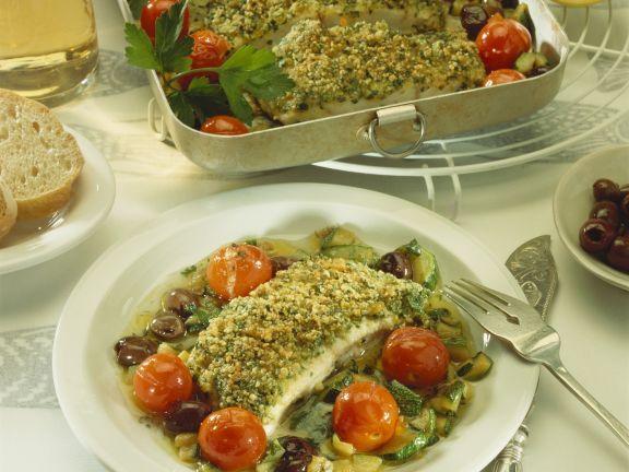 Steinbeißer mit Kräuter-Mandel-Haube ist ein Rezept mit frischen Zutaten aus der Kategorie Meerwasserfisch. Probieren Sie dieses und weitere Rezepte von EAT SMARTER!
