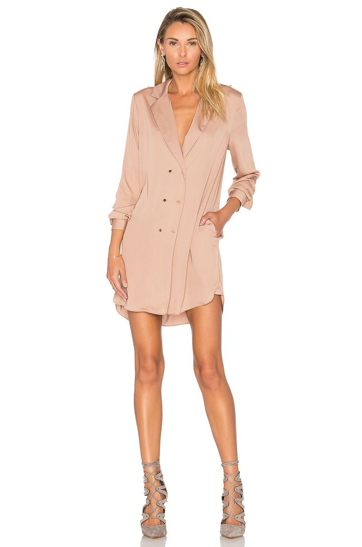 L'Academie The Military Dress in Camel | REVOLVE