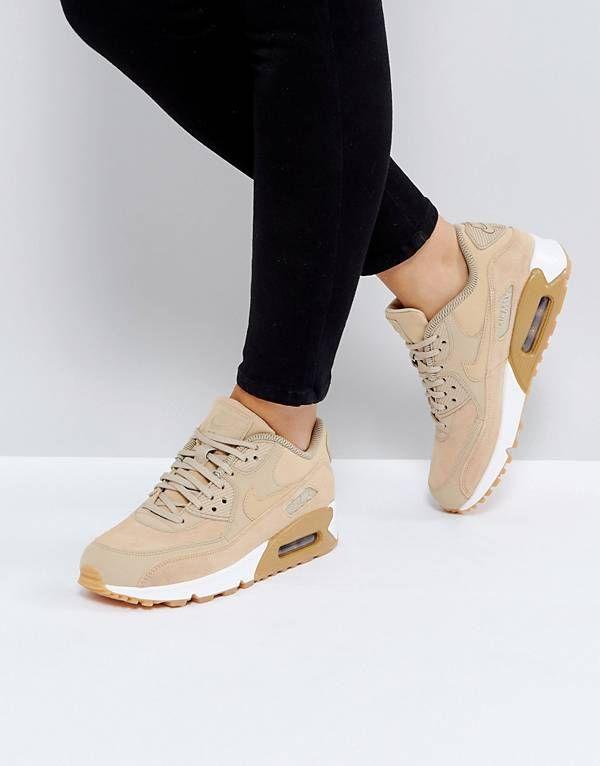 Pizza Hazlo pesado Asistir  Nike Air Max 90 Trainers In Mushroom | Nike air max, Nike air max 90 women, Nike  air max 90