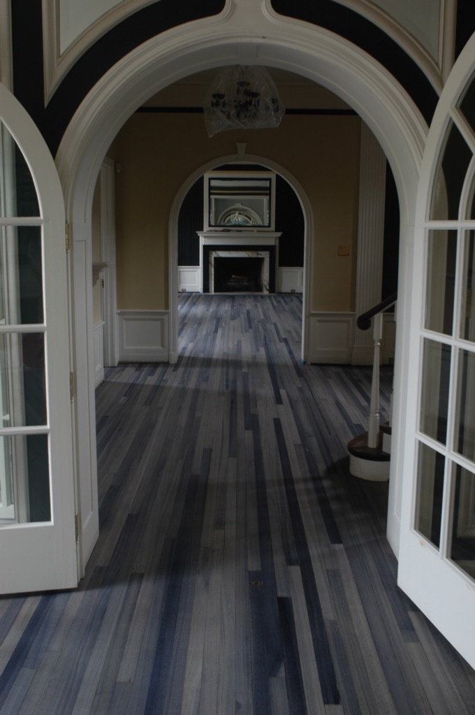gray stained wood floor: Gray Stained, Hardwood Floors, Living Room, Stained Wood, Kitchen Ideas, Woods, Design