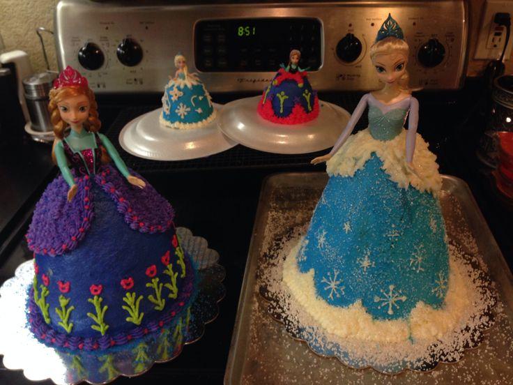 Disney Frozen Elsa & Anna Doll Birthday Cakes Cakes ...