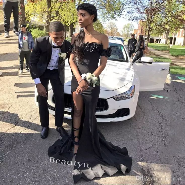 2017 Mermaid Off The Shoulder Prom Dresses 3D Floral Appliques Thigh High Slits Corset Cheap African Black Girls Evening Party Dress Gowns Prom Dresses Floor Length Long Prom Dresses Custom Made Prom Dresses Online with $148.58/Piece on Beautyu's Store | DHgate.com