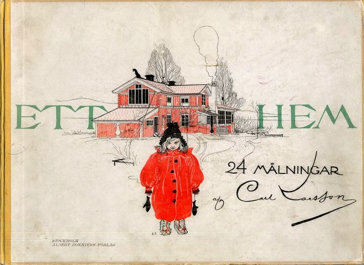 1899, Cover of  - 'A Home' 24 Paintings by Carl Larsson