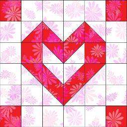 Playful Hearts block - Free Pattern/Instructions!