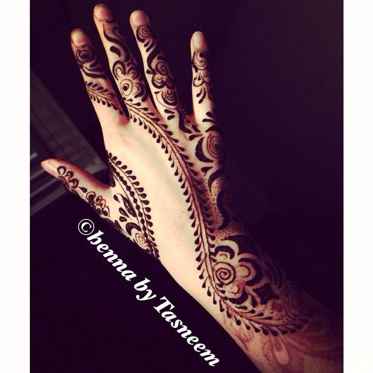 Arabic henna on my hand