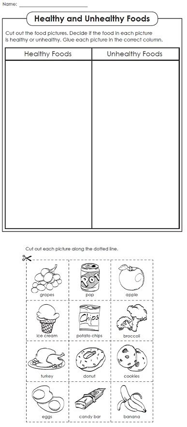 Super Teacher Worksheets now has a nutrition worksheets page!