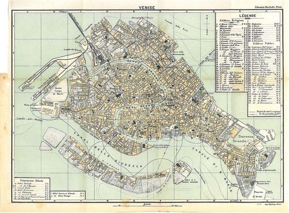 Venice City Map Italy 1950 Canals Streets by carambas on Etsy.  SOLD.: Canal Street, City Maps, Cities Maps, Inspiration Boards, Fantasy Inspiration, 1950 Canal, Maps Italy, Venice Cities, Italy 1950