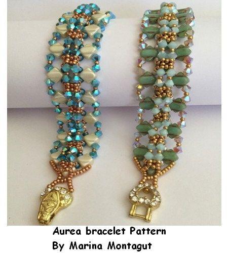Esquema Aurea bracelet por MarinaBeads06 en Etsy