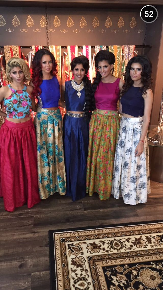 I would go for 4 out of the five Lehengas there