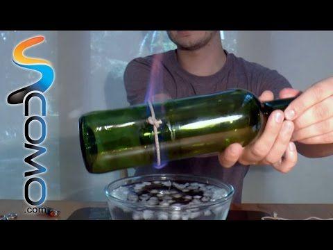 M s de 1000 ideas sobre botellas de hilo en pinterest - Cortar botella cristal ...