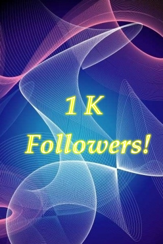 1000 followers over all my social networks! Yay!!