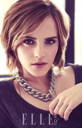 Emma Watson  - grown out pixie