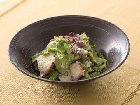 キャベツとたこの生姜マヨネーズ  https://recipe.yamasa.com/recipes/2