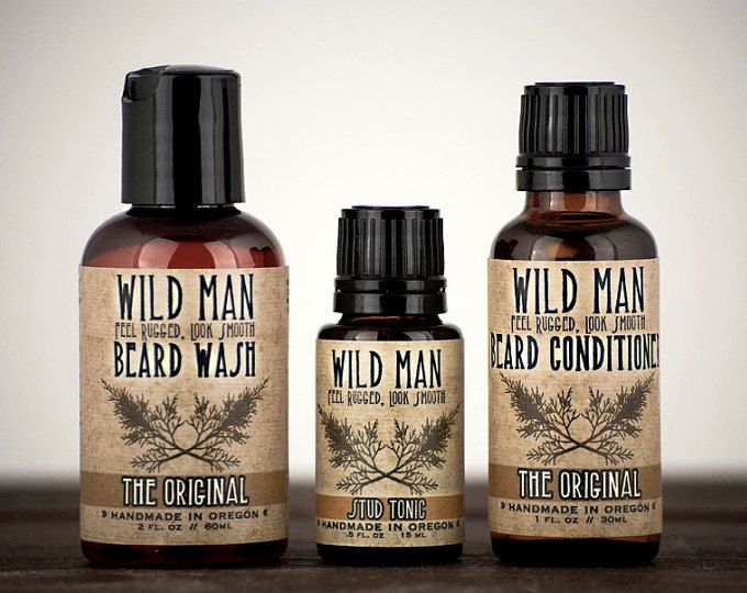 Wild Man Beard Grooming Gift Set for Him - Fathers Day Feel Rugged, Look Smooth  - - - - - - - - - - - - - - - - - - - - - - - - - - - - - - - - - - - - - - - - - - - - - - - - - - - - - - - - - - -  Our three most popular Wild Man beard care essentials! Wild Man Beard Conditioner, Beard Wash and Beard Cream are designed to work together for a naturally soft, thick and clean beard. This best-selling gift set is an ideal introduction to natural beard care. Also a favorite for any Wild Man…