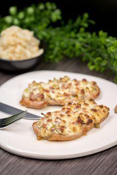 Das Schnitzel elsäßer Art ist lowcarb, lecker und glutenfrei.