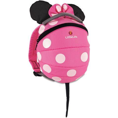 Littlelife Pink Minnie Toddler Daysack with Reins - £22.49. Kiddicare.com
