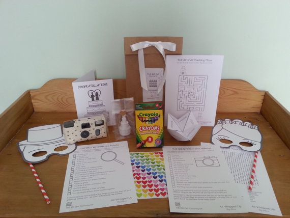 The Big Day Camera Colouring Set Wedding Busy By WrappedByAlice GBP1200 Childrens FavoursKids FavorsWedding