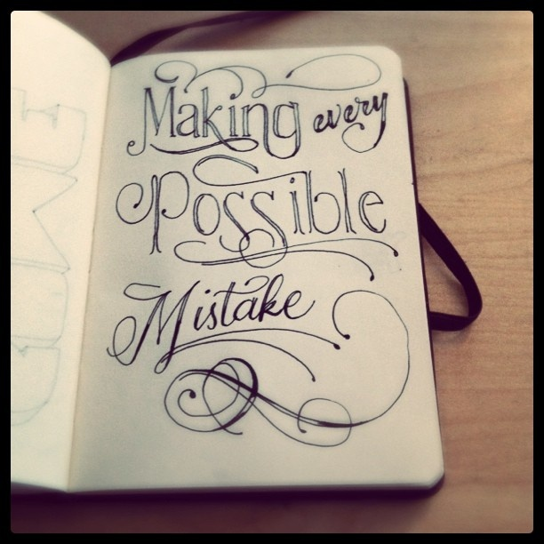 Making every possible mistake. Smash book. Art journal.