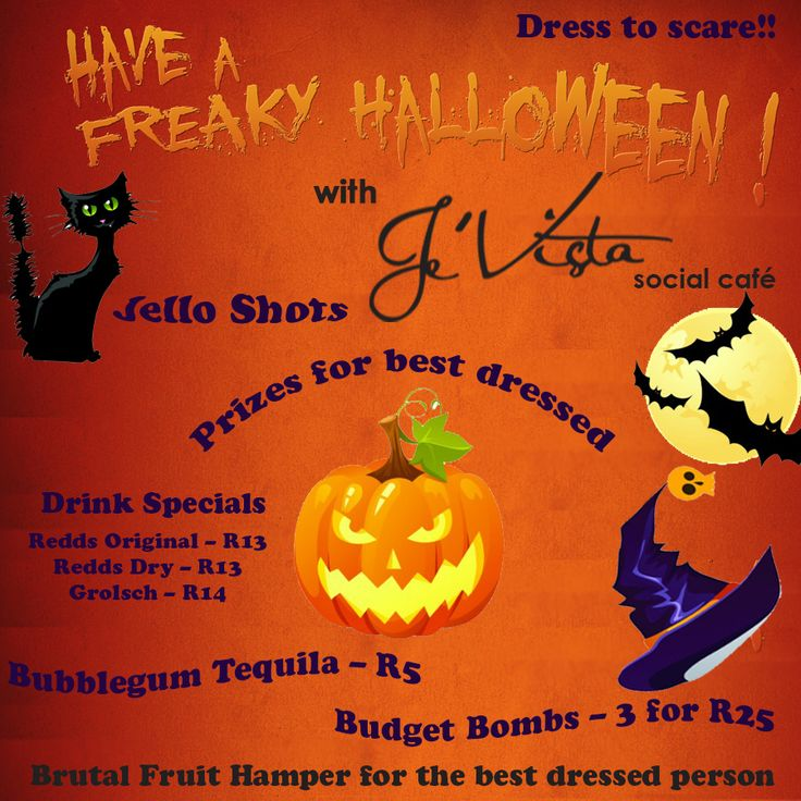 #Halloween themed weekend is almost here! Dress to scare and impress us on Saturday, the 26th October and you could win a #brutalfruit hamper. #Drink specials all night and #live music with The Rattlers Unplugged
